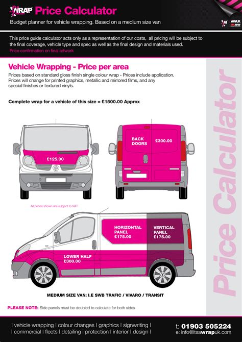 company car prices vehicle wrapping prices vehicle wrap price guide sign