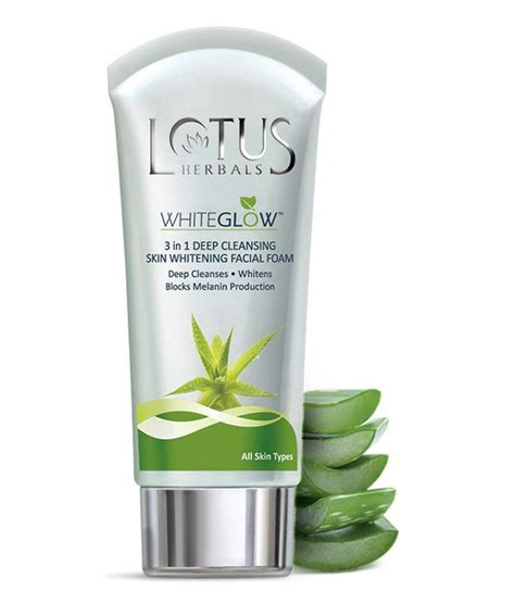 Bleaching Glowskin Herbal 1 lotus herbals white glow 3 in 1 cleansing skin whitening foam 100 g buy lotus