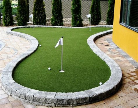 backyard putting green supplies backyard and deck putting greens modern outdoor