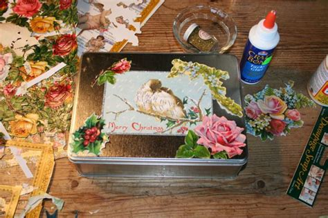 Decoupage Shoebox - decoupage shoebox crafts