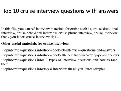 ship questions top 10 cruise interview questions with answers