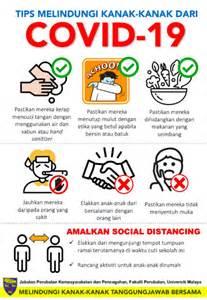 tips lindungi kanak kanak  jangkitan wabak covid  kena alert