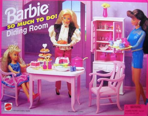 barbie dining room playsets barbie so much to do dining room playset 1995