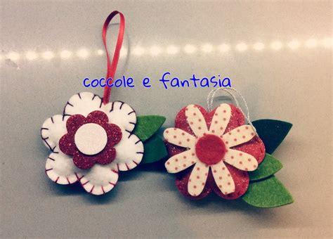 fiore in pannolenci decorazioni natalizie fiori stelle di natale in