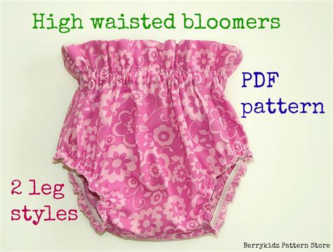 etsy bloomer pattern high waisted baby bloomer pattern baby diaper cover pattern