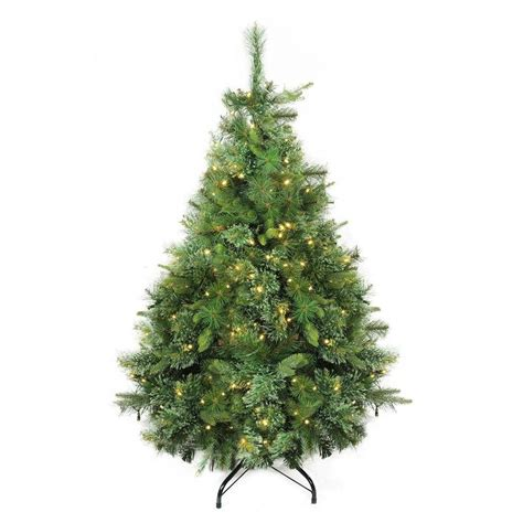 northlight 4 foot berrywood pine tree northlight 4 5 ft pre lit pine artificial tree with 250 constant white clear