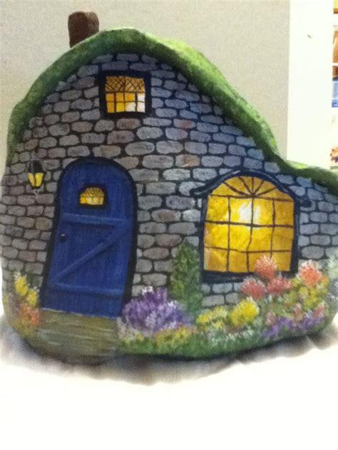 painted rock houses painted rock house painted stones houses doors caravans