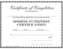 plain certificate template sports nutrition certification certificate printable templates