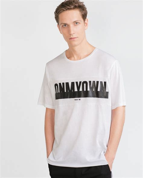 printed letters t shirt t shirts zara united states shirt design in 2019 t
