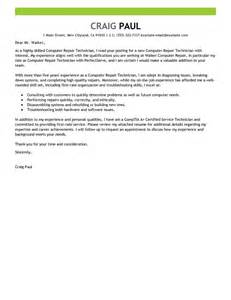 Home Based Tech Support Cover Letter by Leading Professional Computer Repair Technician Cover Letter Exles Resources