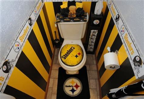 steelers bathroom who s your favorite sports team zen of zada