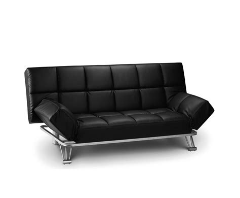 sofa bed clic clac uk manhattan 110cm black faux leather clic clac sofa bed