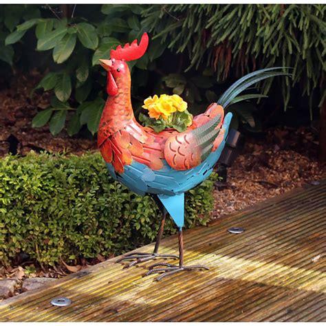 craftsman metal rooster planter  pot  sale fast