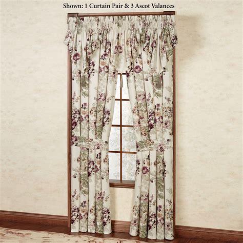 Ascot Valances Window Treatments Cherish Floral Ascot Valance Window Treatment