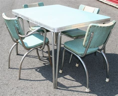 retro formica dining table vtg 50s formica table 4 chairs mid century atomic retro