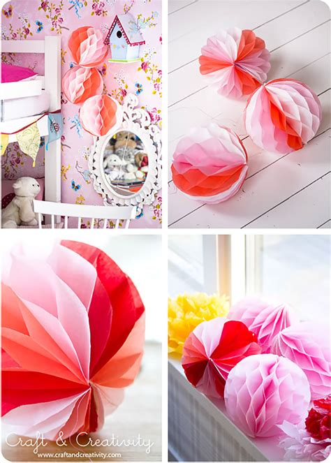 How To Make Honeycomb Paper - diy paper honeycomb decorations handmade