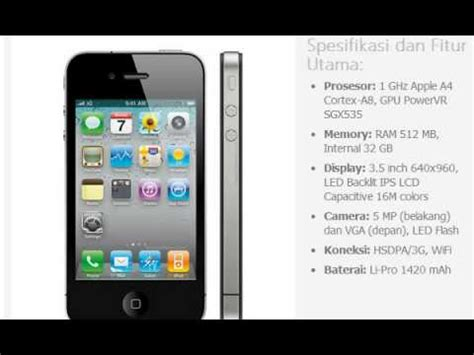 Pasaran Hp Iphone 4 harga hp apple iphone 4 32gb