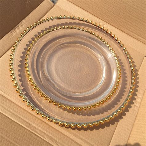 clear glass charger plates wholesale colored glass plates clear charger plate buy