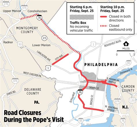 philadelphia inquirer travel section map road closures during the pope s visit philly