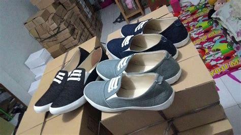 Sandal Sepatu Flat Wanita 8537 jual sepatu sandal wanita flat kanvas sepatu cewek sds89