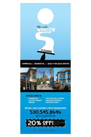 Door Hangers Dollar Signs And Graphics Lake Tahoe Window Cleaning Door Hangers Template