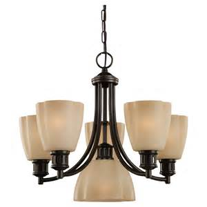 lowes lighting chandelier shop sea gull lighting century 6 light heirloom bronze