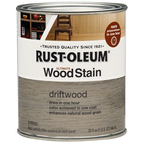 shop rust oleum ultimate driftwood interior stain actual net contents 32 fl oz at lowes