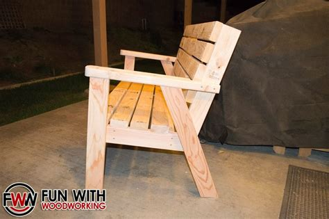 bench made from 2x4 park bench with a reclined seat made out of 2x4 s by fun with woodworking