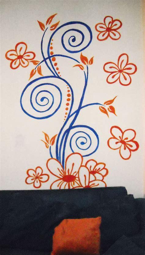 murales fiori murales fiori stilizzato arancio arancione