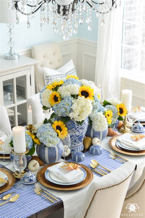 blue and white table a classic blue and white table for a traditional