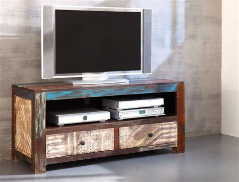tv möbel wohnzimmer lowboard punjab 130x60x55 akazie metall tv m 246 bel tv