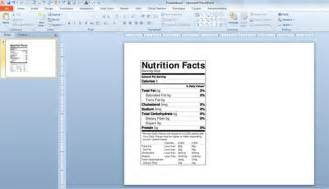 Blueprint Maker Free Online how to make a nutrition facts label for free for your