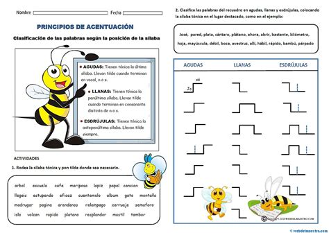 imagenes con palabras agudas spanish words accentuation web del maestro
