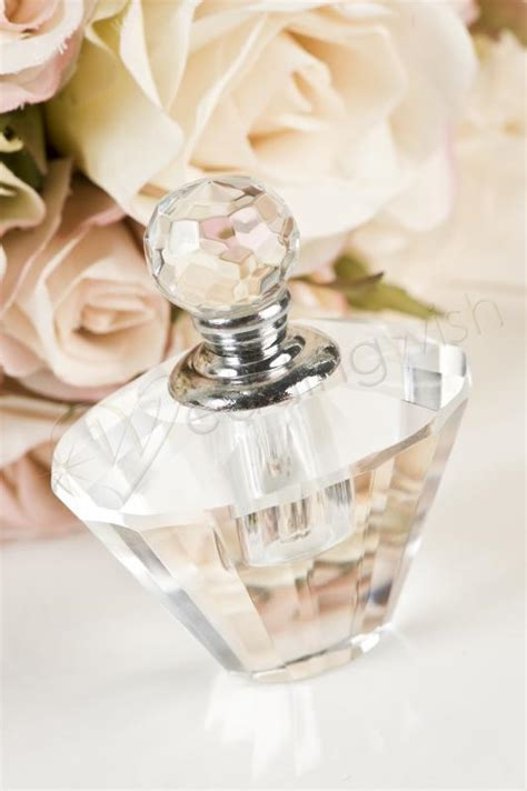 Wedding Crystal Perfume Bottle (bodice shape)   Wedding Wish