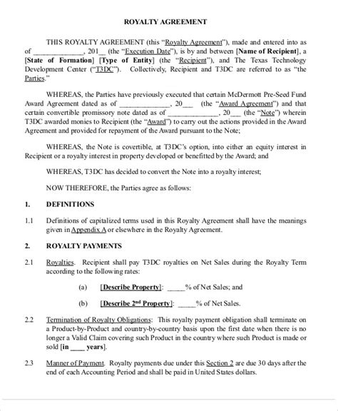 royalty free license agreement template patent assignment royalty agreement new york state