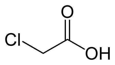 acid diagram chloroacetic acid
