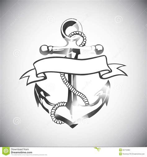 anchor icon vector tattoo logo grunge design floral