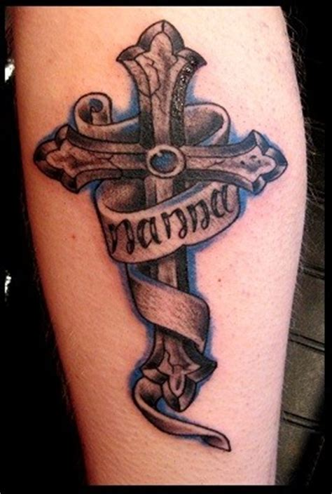 tattoo designs around lettering impressive detailed and colored big cross with lettering