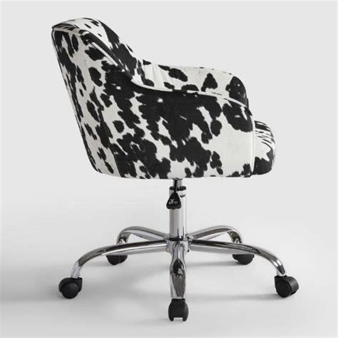 cow print desk chair udder madness cow print velvet jozy home office chair