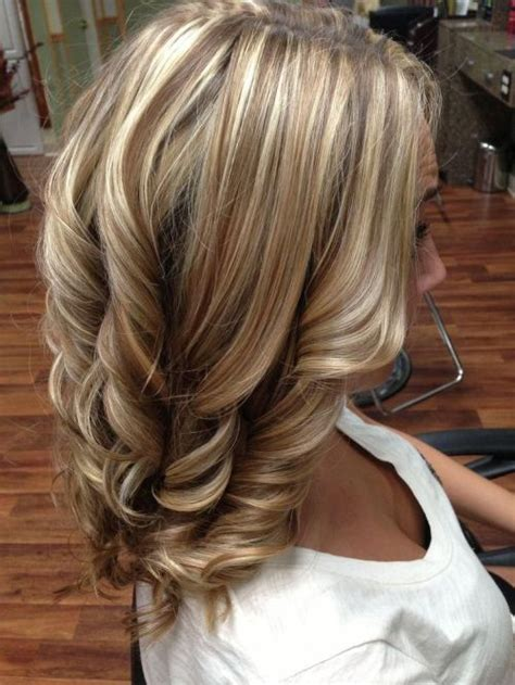 pictures of blonde highlights and lowlights curly ideal combination of blonde highlights brunette lowlights