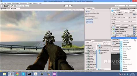 fps tutorial unity 4 x unity 3d multiplayer fps tutorial 9 rigidbody bullets and