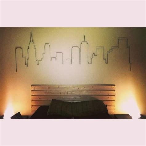 city line tattoo atlanta skyline in pencil and outlined in yarn took