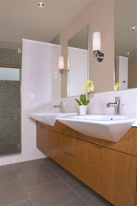 narrow vanity sink Bathroom Eclectic with accent tile