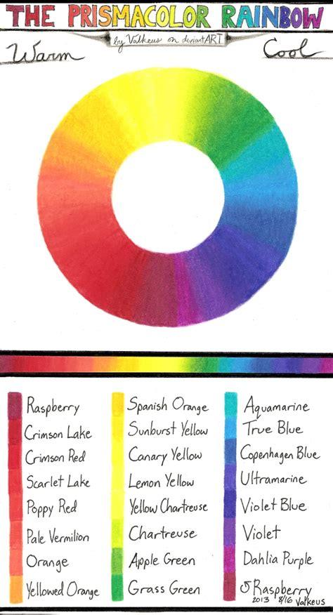 prismacolor pencil color wheel prismacolor pencil combinations i rainbow by valkeus on