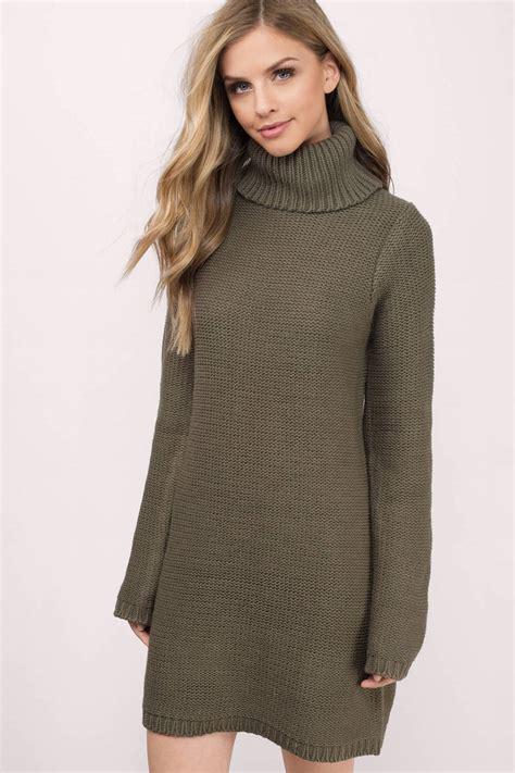 Sweater Dress - grey day dress grey dress turtleneck dress 23 00