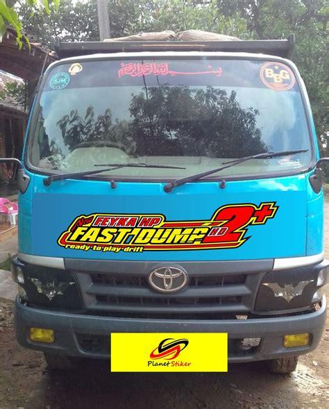 jual sticker cutting truck stiker truk dyna rhino canter
