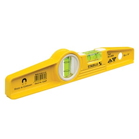 Magnetic Level Stabila 81s Rem Earth Magnetic Torpedo Level 25cm