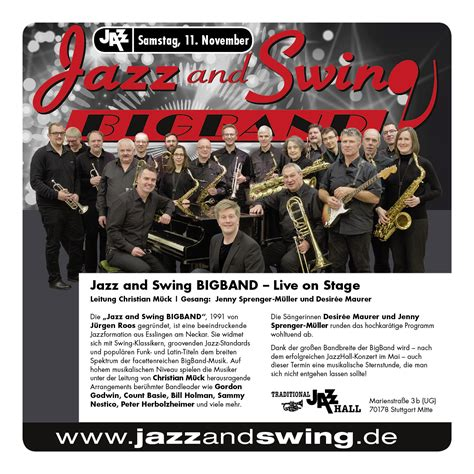 jazz and swing live in der jazzhall jazz and swing bigband