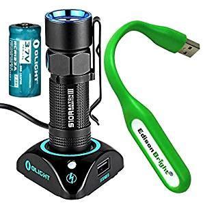 Olight S2 Baton Flashlight Senter Led Rechargeable Bundle olight s10r iii baton usb rechargeable 600 lumens led flashlight edc rcr123 li ion battery