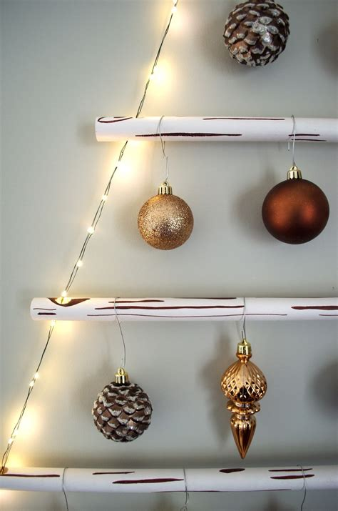 how to make a faux wood hanging christmas tree a
